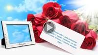 Красивое поздравление - Яркие розы для яркой женшины!