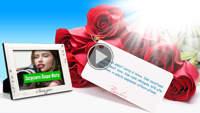 Красивое поздравление - Праздничные розы!